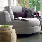 Grey Round One And A Half Chair