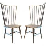 Greyish Brown Modern Windsor Chair