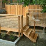 Light Brown Wooden Aluminum Horizontal Railing