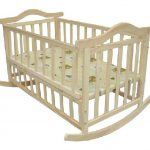 Light Brown Wooden Small Baby Crib