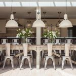 Long Industrial Theme Dining Table With Salvaged Wood