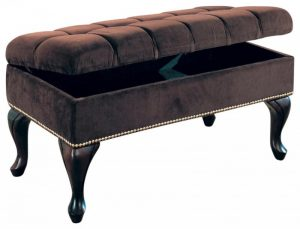 luxurious grandeur velvet storage bench