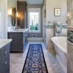 Master Bathroom Layouts Carpet Towel Rack Cabinet Drawer Mirror Bathroom Lighting Window Bathtub