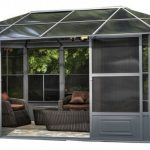 Modern Aluminum Gazebo Kit House Like With Sliding Door