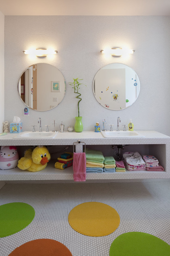 modern bathroom lighting vase faucet countertop mirrors towel light color towel racks shelves
