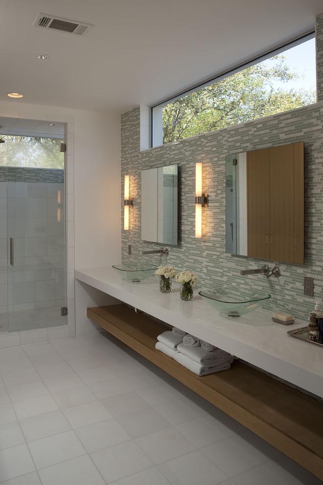 modern bathroom lights wooden shelves faucets glass basins modern long lights ceiling lamps glass door