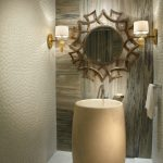 Modern Bathroom Unique Bath White Floor Faucet Mirror Lights Towel Ceiling Lights Wall Towel Rack