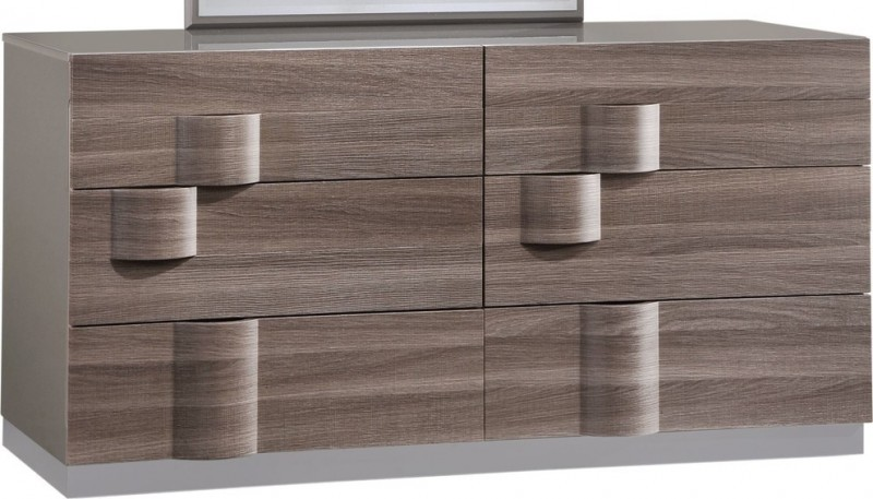 modern grey zebra wood dresser