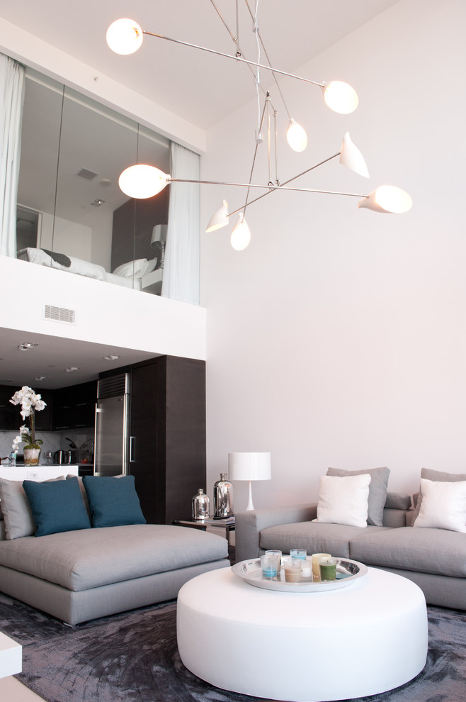 modern house interior sofa lamp modern table pillow flower white wall white ceiling unique hanging lamps