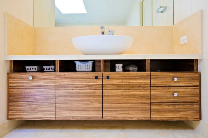 modern zebra wood dresser for bathroom