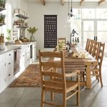 natural wooden benchwright extending dining table