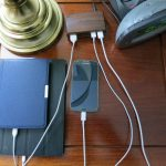 Nightstand Charging Station In The Wooden Table