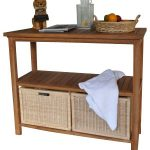 Ood Table With Wicker Drawers
