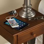 Out Of Drawer Simple Nightstand Charging Station