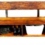 Raw Brown Wooden Handmade Storage Bench