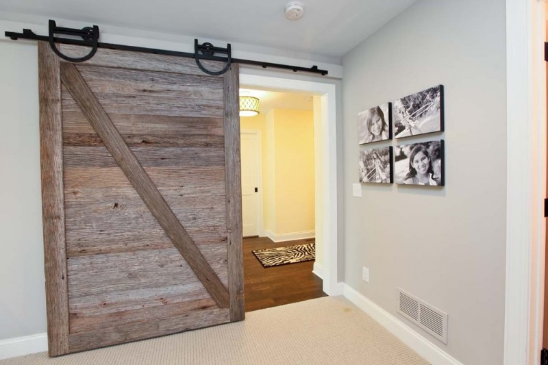 reclaimed sliding door