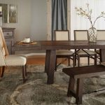 rectangle length rustic java sandblasted dining table