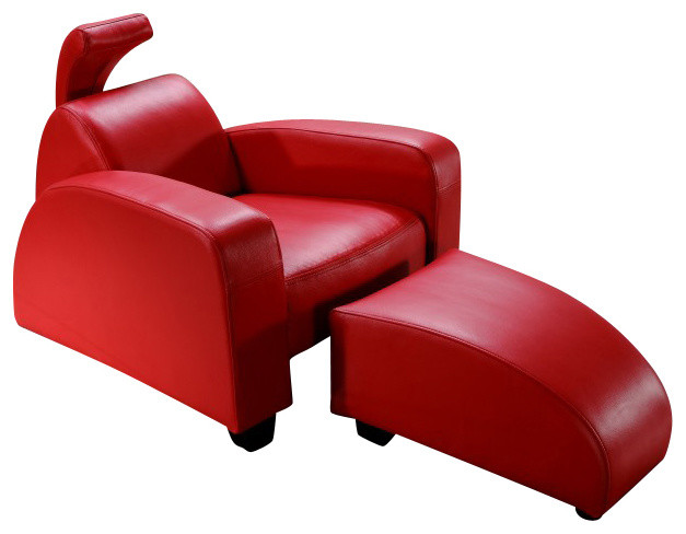 red leather armchairs ottoman accent chairs