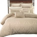 Royal Imperial Pattern Embossed Ivory Cover Sets With 7 Pillows