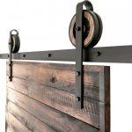 Rustic Steel Sliding Barn Door