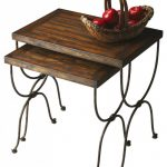 Rustic Wooden Nesting Tables With X Legs