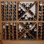 simple custom wooden liquor cabinet