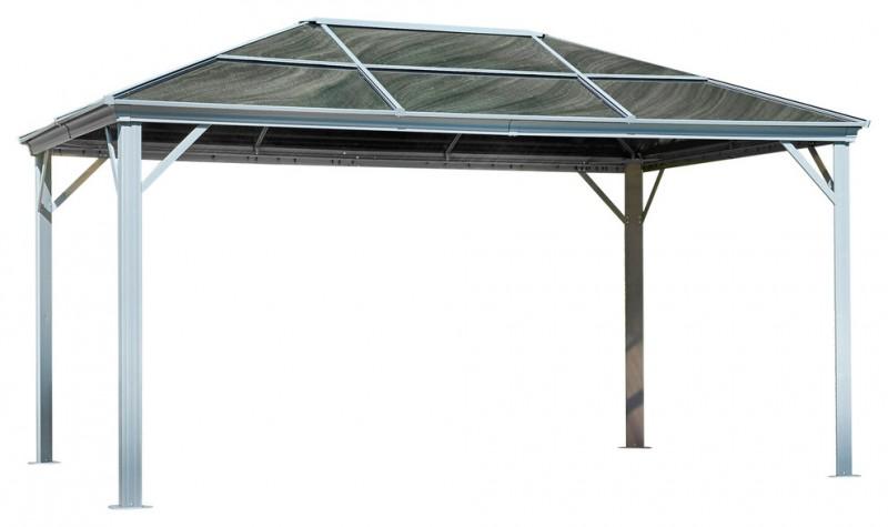 simplest gray roof aluminum gazebo kit