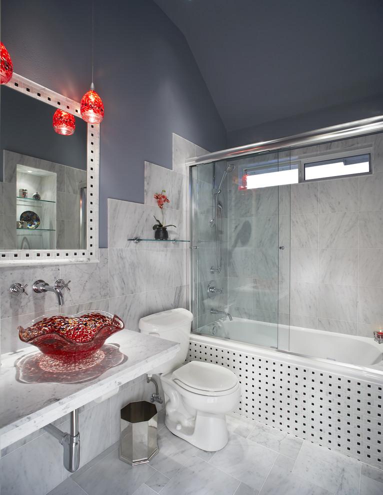 small bathroom remodel ideas sink faucet mirror toilet bathtub glass door vase flower hanging lamp