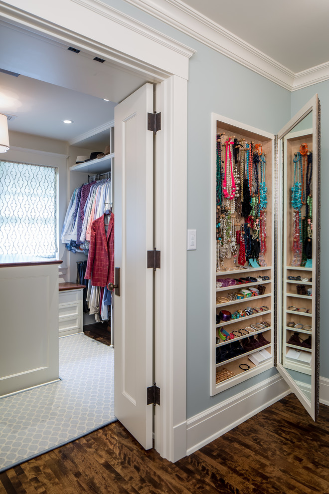 small closet in white clean wooden cupboard