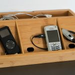 Small Simple Nightstand Charging Station