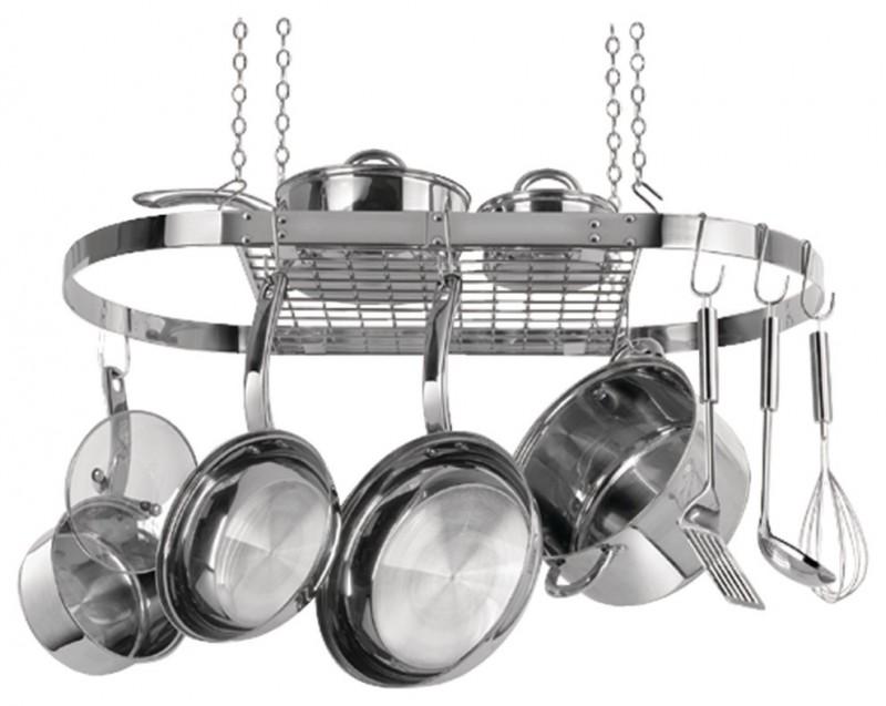 stainless steel hanging pot racks