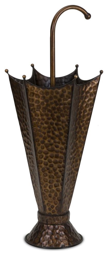 tin umbrella stand shaped like umbrella