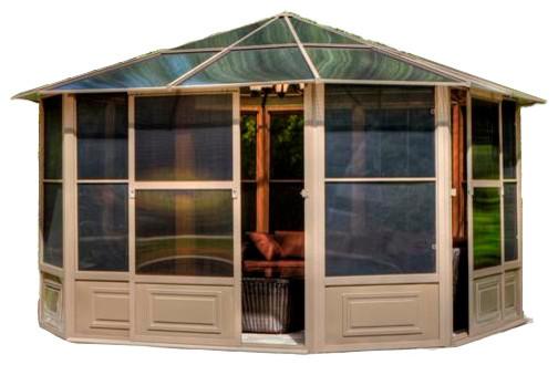 traditional house like aluminum gazebo kit
