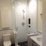 Traditional Simple Small High End Plumbing Fixtures With Toilet, Shower, Sink