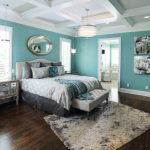 Traditonal Classic Teal And Gray Bedding With Grey And Patterned Pillows