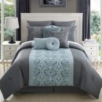 turquoise and silver bedding grey and aqua bed