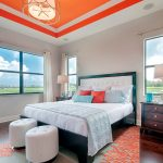 Turquoise White Linen With Coral And Turquoise Pillows And Comforter