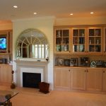 Two Entertainment Cabinets In Brown Wooden Finish