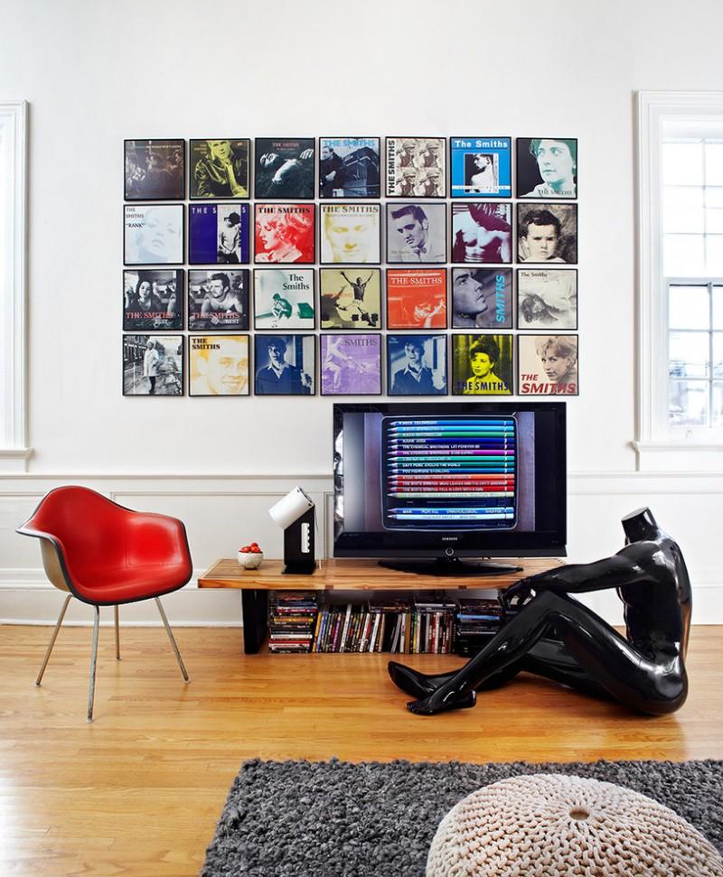 wall floating vinyl storage