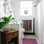 White Bathroom Ideas Painting Book Storage Drawer Vase Carpet Towel Rack Toilet Curtain Tile Window Mirror Lighting