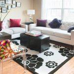 white loveseat for contemporary living room
