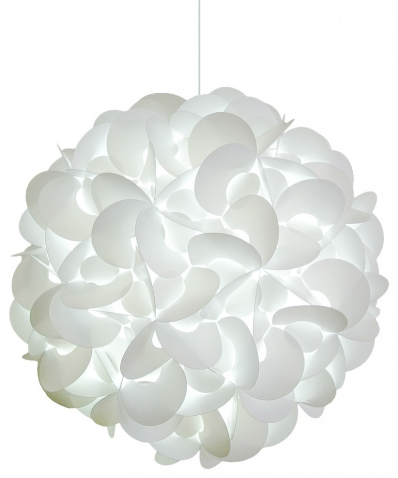 white mesmerizing resin lamp
