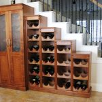 wooden liquor cabinet and bar