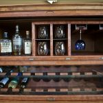 Wooden Liquor Cabinet With Glass Holder