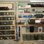 Wooden Shelf Basement