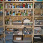 Wooden Shelf On Basement
