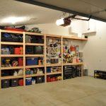 wooden storage basement
