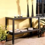 Woven Rattan Console Table