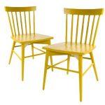 Yellow Short Windsor Chair