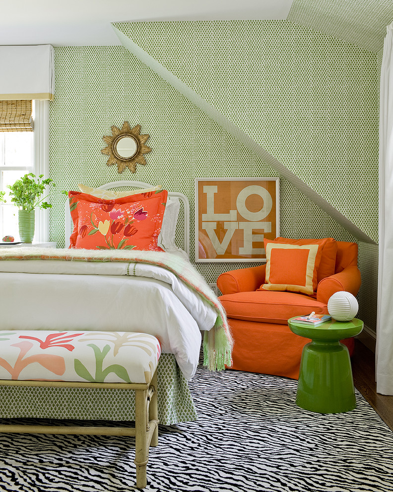 best colour combination for ur bedroom carpet green orange wall decor bed pillow bench window seating